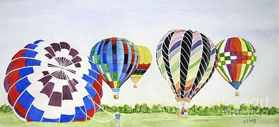Poster featuring the painting Balloons by Carol Flagg