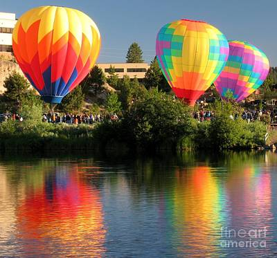 Poster featuring the photograph Balloons Over Bend Oregon by Kevin Desrosiers