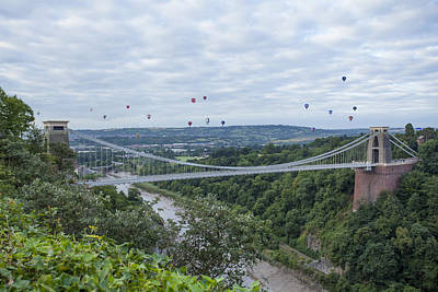 Poster featuring the photograph Balloons Over Clifton by Stewart Scott