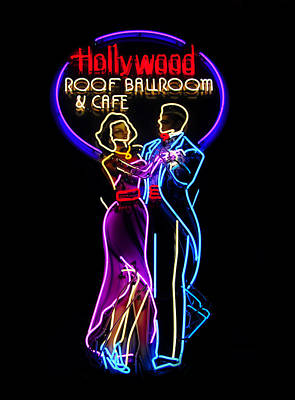 Ballroom Dancing Sign Poster by David Lee Thompson