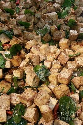Balsamic Roasted Tofu And Spinach Poster by Emmy Marie Vickers