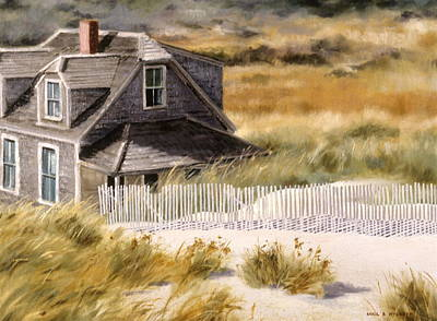 Poster featuring the painting Balston Beach House by Karol Wyckoff