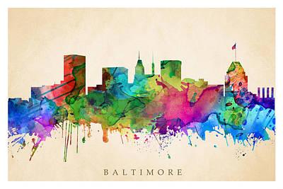 Baltimore Cityscape Poster