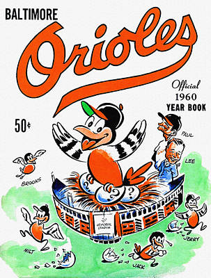 Baltimore Orioles 1960 Yearbook Poster