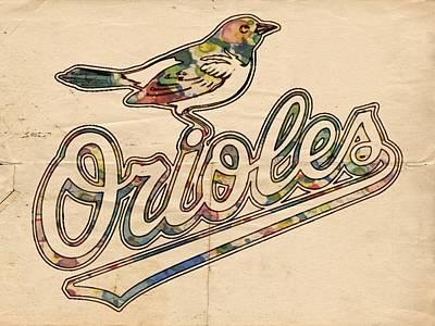 Baltimore Orioles Stylish Logo Poster by Florian Rodarte