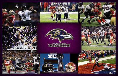 Baltimore Ravens 2 Poster by Joe Hamilton