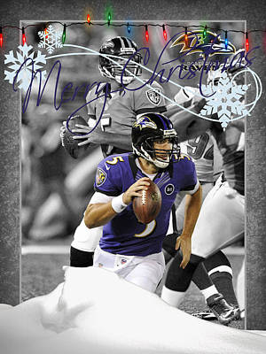 Baltimore Ravens Christmas Card Poster by Joe Hamilton