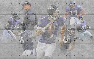 Baltimore Ravens Team Poster by Joe Hamilton