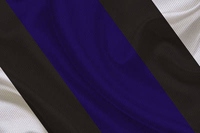Baltimore Ravens Uniform Poster by Joe Hamilton