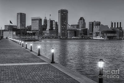 Baltimore Skyline At Twilight II Poster by Clarence Holmes