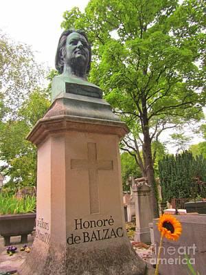 Balzac Grave In Pere La Chase Poster