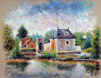 Balzac Watermill In Pont-de-ruan Poster by Pierre VALLON