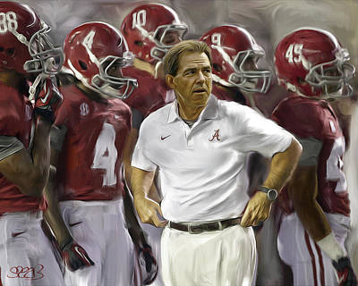 Bama Boys And Saban Poster by Mark Spears