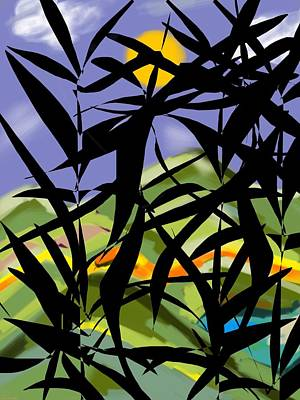 Bamboo Poster by Christine Fournier