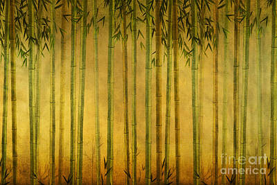 Bamboo Rising Poster by Bedros Awak