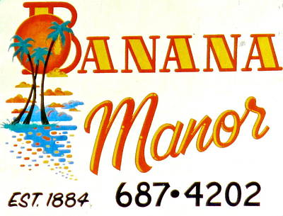 Banana Manor Poster by Jeff Gater