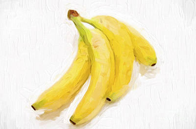 Painterly Bananas Poster by Andee Design