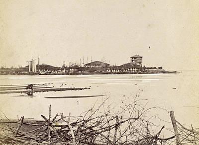 Bandar-e Anzali Seaport In Persia Seen Across The Water Poster by Artokoloro