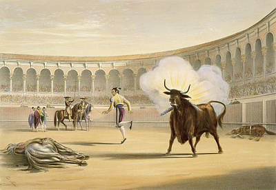 Banderillas De Fuego, 1865 Poster by William Henry Lake Price