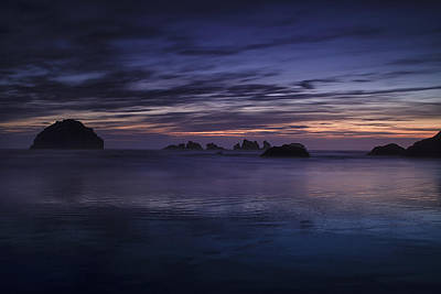 Bandon Beach At Twilight Poster
