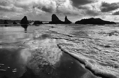 Bandon By The Sea High Tide Poster by Bob Christopher