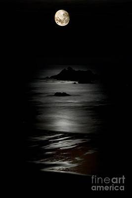 Bandon Moonset Poster