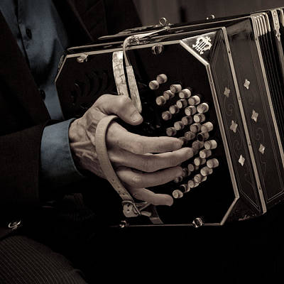 Bandoneon Player 2 Poster by PointShoot Photography By Mario Gozum