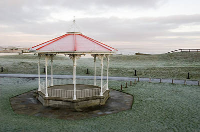 Poster featuring the photograph Bandstand In Winter by Jeremy Voisey