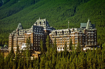 Banff Springs Hotel Poster by Richard Farrington