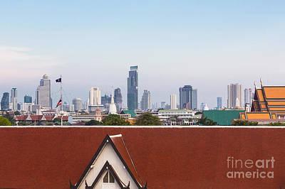 Bangkok Modern Vs Traditional Poster