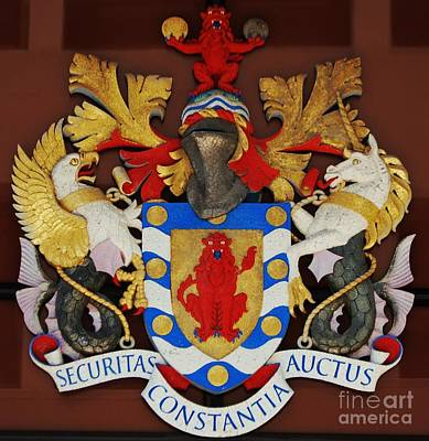 Bank Of Bermuda Coat Of Arms Poster by Marcus Dagan