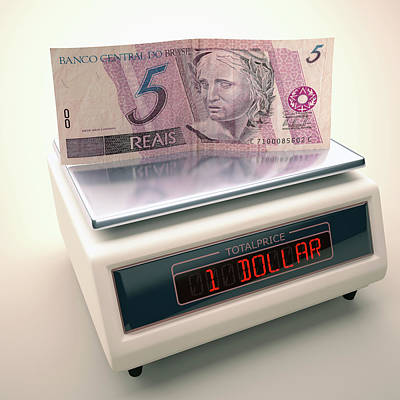Banknote On Scales Poster by Ktsdesign