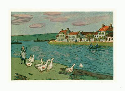Banks Of The River Les Bords De Riviere Poster