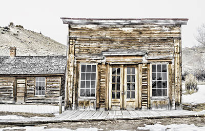 Bannack Assay Office Poster by Fran Riley