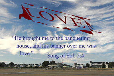 Banner Of Love Poster by Paul Miller