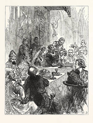 Banquet At The Marriage Of Henry And Eleanor Of Provence Poster