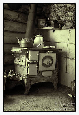 Banquet Wood Stove Poster by Michael Greiner
