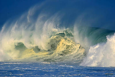 Poster featuring the photograph Banzai Pipeline Crashing Wave by Aloha Art