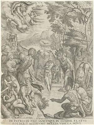 Baptism Of Christ, Egidius Horbeck Poster by Egidius Horbeck