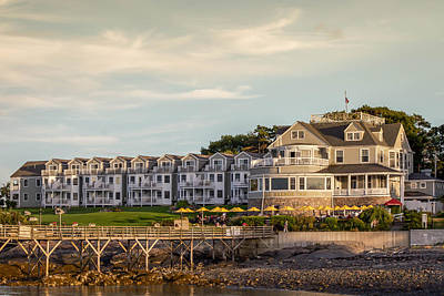 Poster featuring the photograph Bar Harbor Inn  by Trace Kittrell