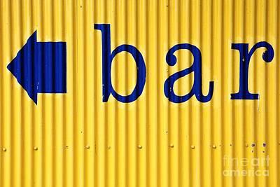 Bar Sign Poster by Sophie Vigneault