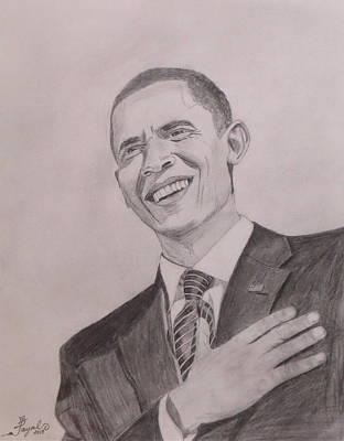 Barack Obama Poster by Artistic Indian Nurse
