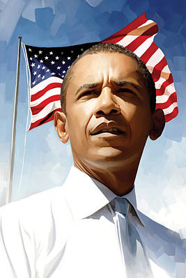 Barack Obama Artwork 1 Poster by Sheraz A