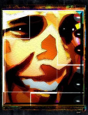 Poster featuring the digital art Barack Obama by Daniel Janda