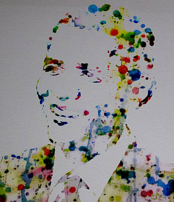 Barack Obama Paint Drops Poster by Brian Reaves