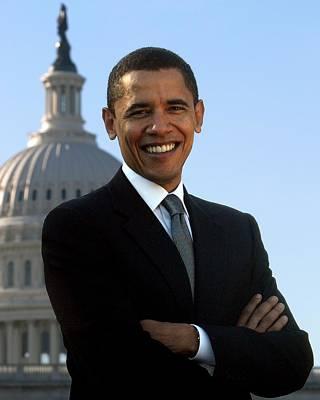 Barack Obama Poster by Tilen Hrovatic