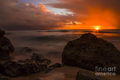 Barbados Sunset Poster by Matt  Trimble