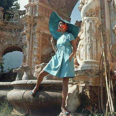 Barbara Bach Wearing Blue Poster
