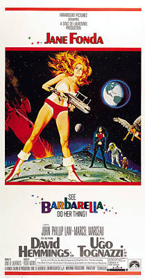 Barbarella, Us Poster, Jane Fonda, 1968 Poster by Everett