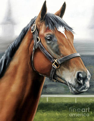 Barbaro At Churchill Downs Poster by Thomas Allen Pauly